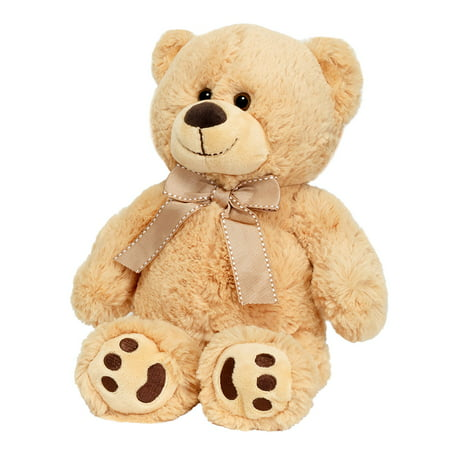 Joon Mini Teddy Bear, Tan, 13 Inches (Halloween Vs Valentine's Day)