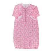 Blossom and Buds Pink Quatrefoil Muslin Cotton Gown, 0-6 Months