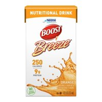 Boost Breeze Orange, 8 Ounce, Nutritional Supplement Drink by Nestle - Case of 27