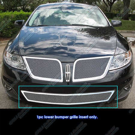 Compatible with 09-10 Lincoln MKS Bumper Stainless Steel Mesh Grille Grill Insert