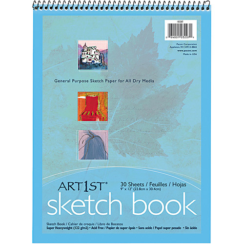 Pacon Artist's Sketch Book, Unruled, 9 x 12, White, 30 Sheets/Pad