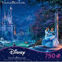 Ceaco - Thomas Kinkade - The Disney Collection - Cinderella Dancing In The Starlight - 750 Piece Jigsaw Puzzle