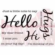 """Woodware Clear Stamps 3.5""""X5.5""""-Hello"""