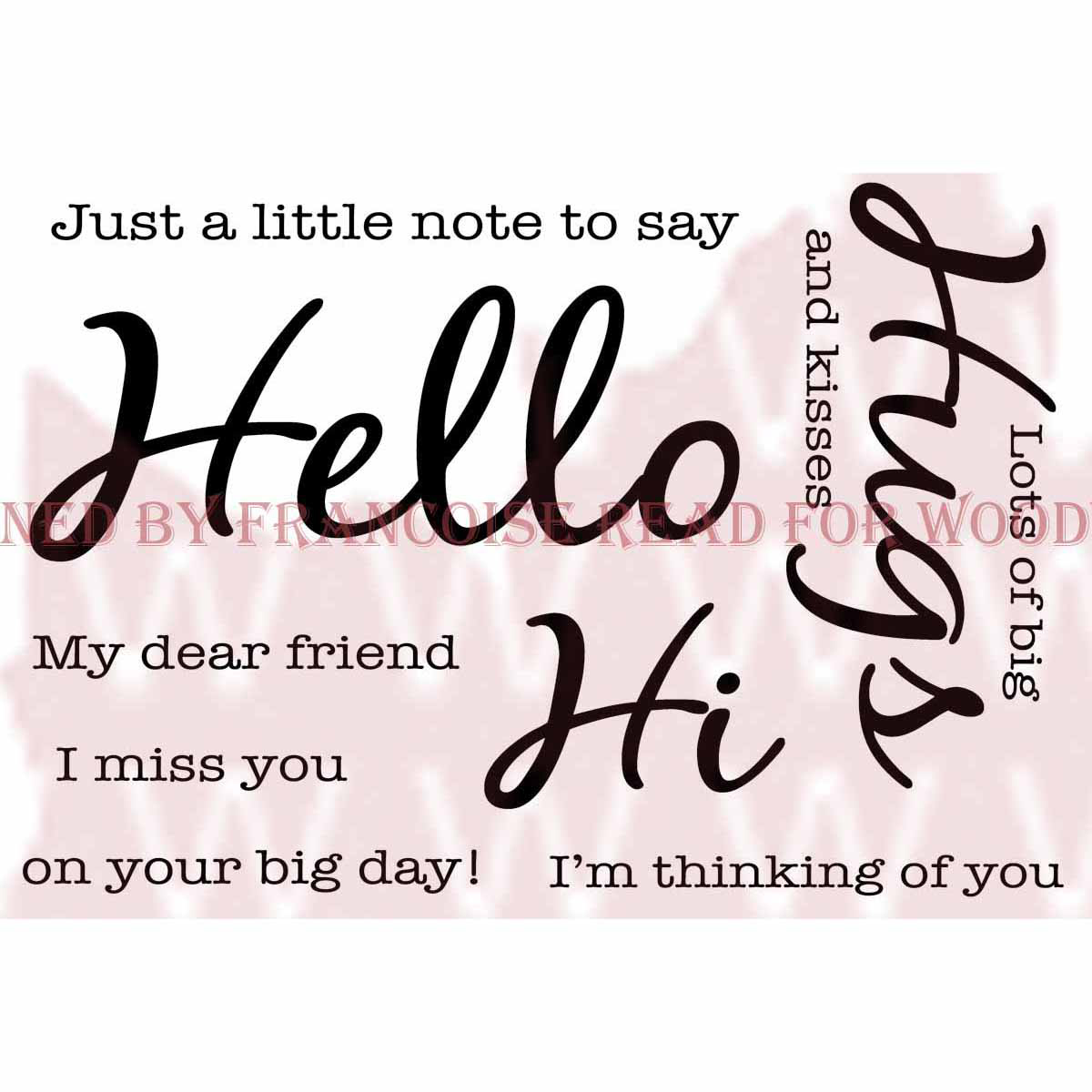 "Woodware Clear Stamps 3.5""X5.5""-Hello"