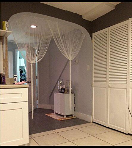 Zebery Decorative Door String Curtain Beads Wall Panel Fringe Window