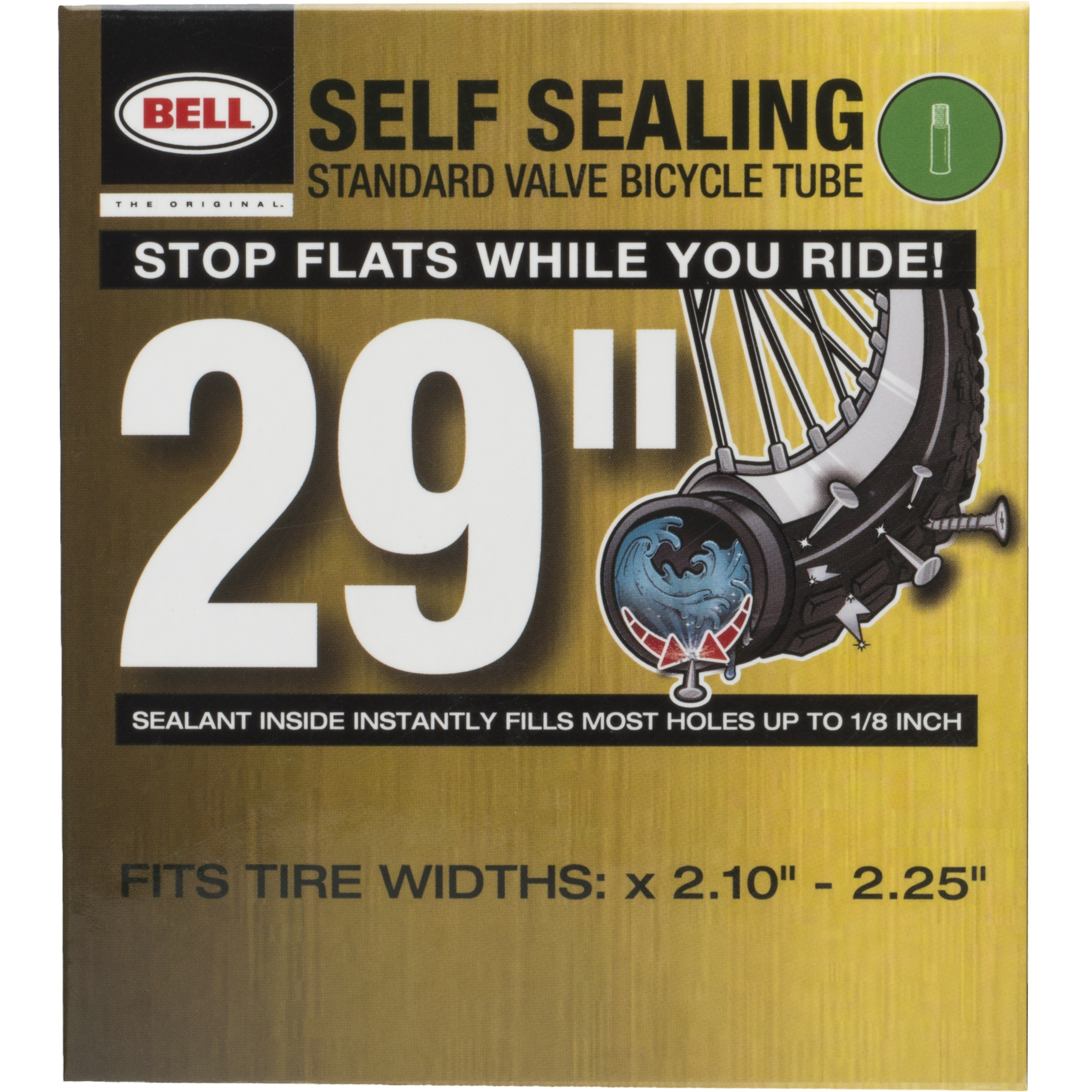 """Bell Sports Self-Sealing Schrader Bicycle Inner Tube, 29"""" x 2.10-2.25"""""""