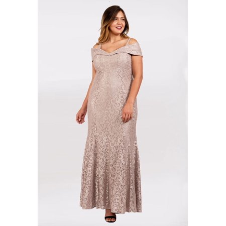 R&M Richards - R&M Richards Long Formal Plus Size Prom Dress - Walmart.com