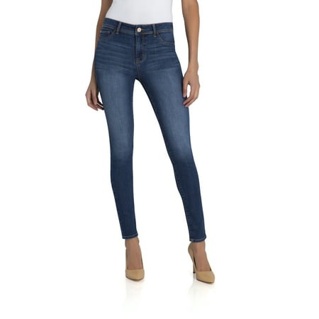 Womens Light Blue Jeans - Jordache Women's Essential High Rise Super Skinny Jean