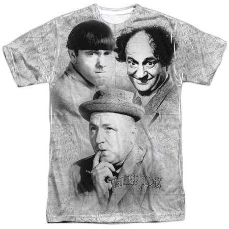 The Three Stooges Signature (Front Back Print) Mens Sublimation Shirt](Three Stooges Golf)