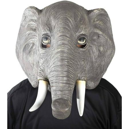 Elephant Mask Adult Halloween Accessory - Mario Chiodo Masks