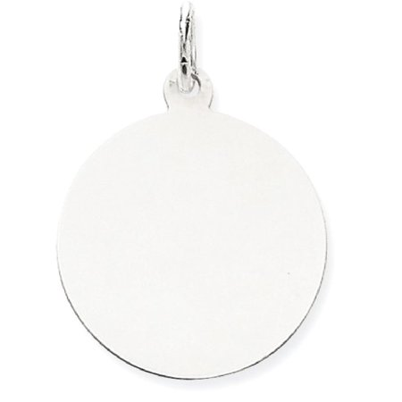 (ICE CARATS 14kt White Gold Plain .013 Gauge Round Engravable Disc Pendant Charm Necklace Fine Jewelry Ideal Gifts For Women Gift Set From Heart)