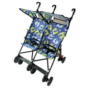 Amoroso 42182 blue Twin Umbrella Stroller, Blue - Side by Side