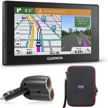 Garmin 010-01540-01 DriveSmart 60LMT GPS Navigator Charger/Hardshell Case Kit