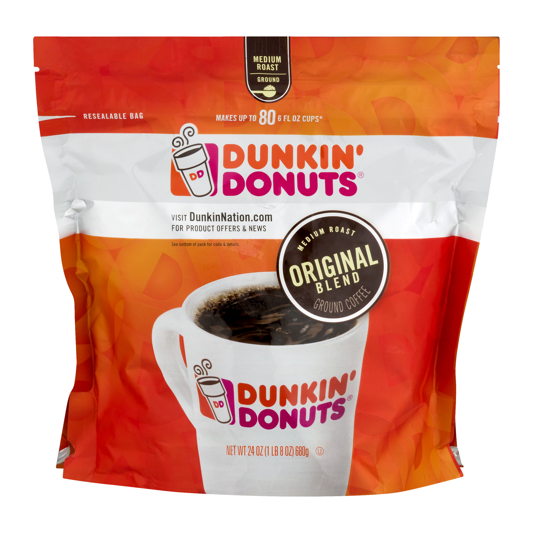 Dunkin' Donuts Ground Coffee Original Blend, 24.0 OZ