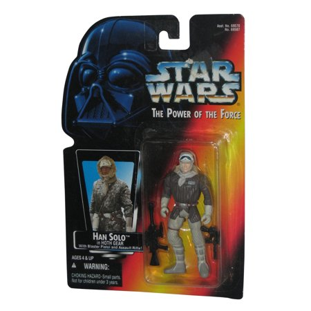 Star Wars Power of The Force Han Solo In Hoth Gear Red Card Figure - Tauntaun Hoth