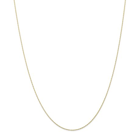 - 10k Yellow Gold .5 Mm Carded Cable Link Rope Chain Necklace 24 Inch Pendant Charm For Women