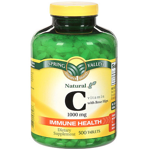 Spring Valley Natural C Vitamin With Rose Hips Dietary Supplement 500 ct