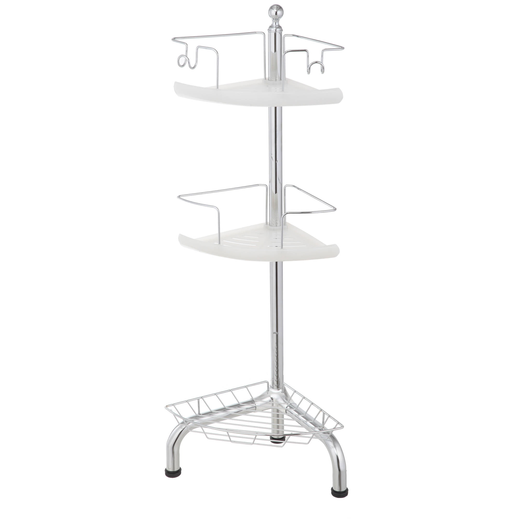 3-Tier Bathroom Adjustable standing Corner Shower Caddy Organizer ...