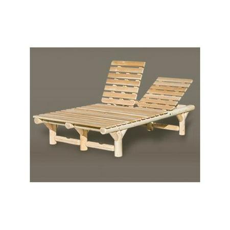 Rustic natural cedar furniture cedar double chaise lounge for Cedar chaise lounge