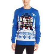 Star Wars NEW Royal Blue Mens Size XL R2D2 Holiday Crewneck Sweater