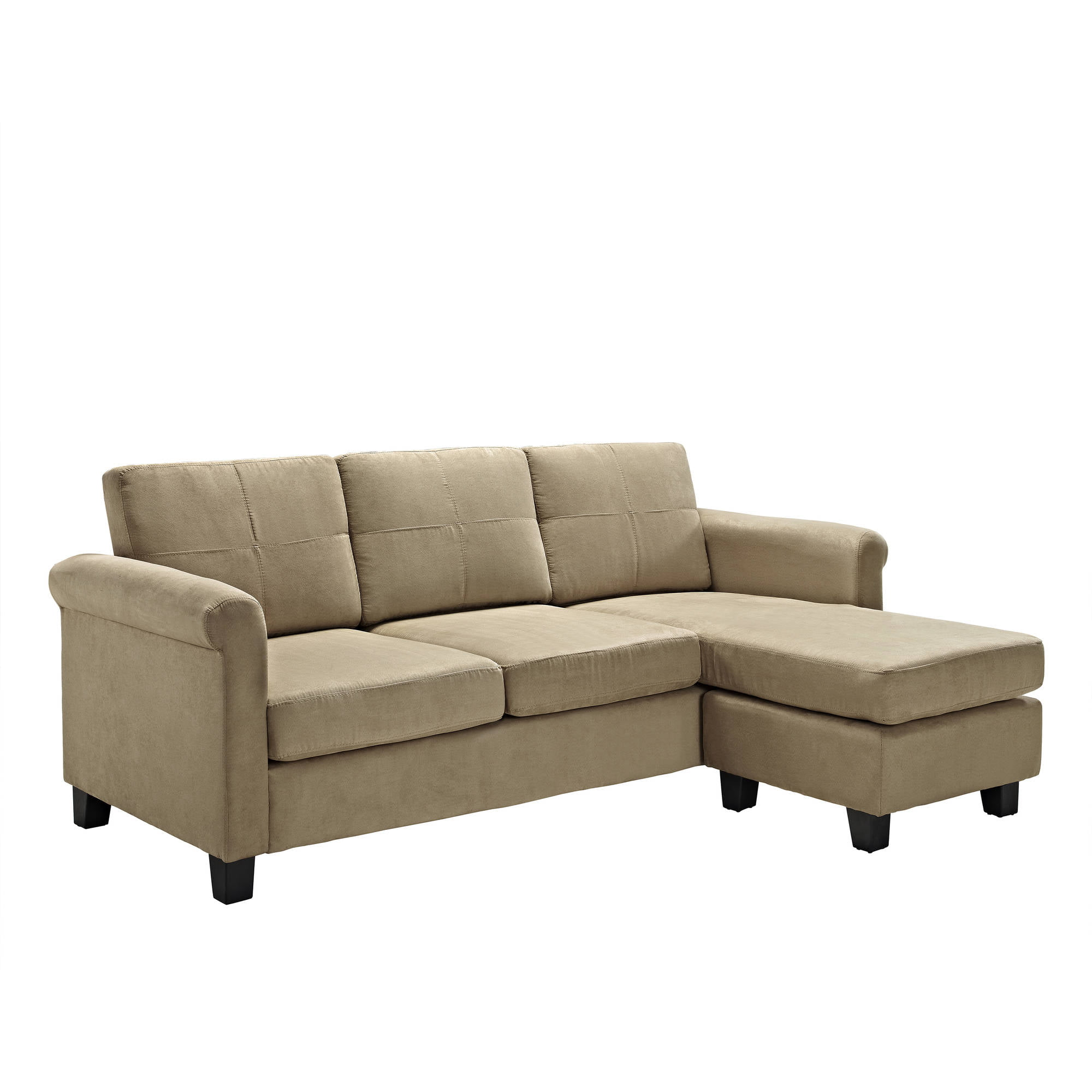 living room furniture for small space. Dorel Living Small Spaces Configurable Sectional Sofa  Multiple Colors Walmart com