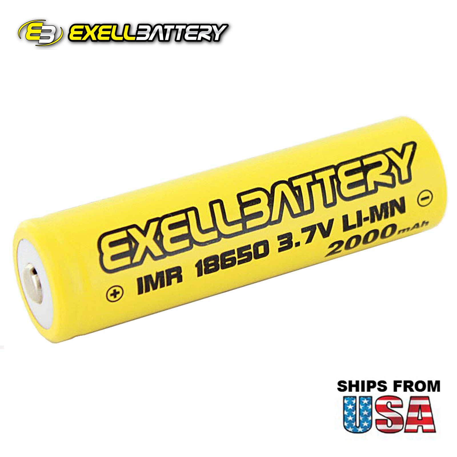 IMR 18650 3.7V LiMN 2000mAh Rechargeable Button Top Battery Mod Vape