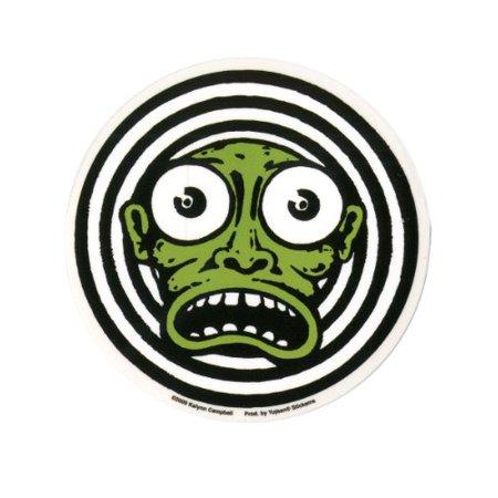 Kalynn Campbell - Green Monster Face - Sticker / Decal