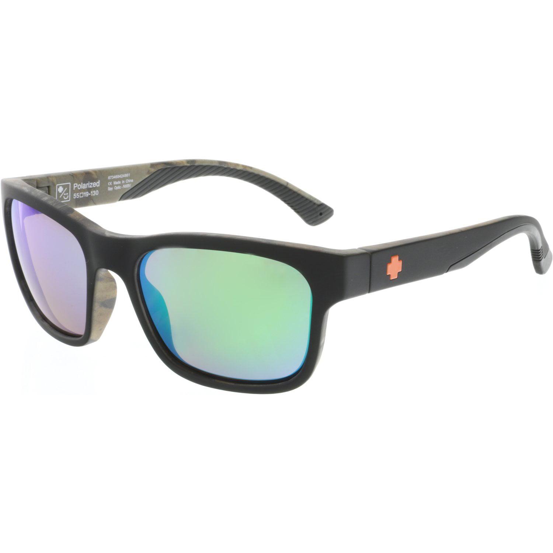 Spy Men's Polarized Hunt 673469424861 Black Rectangle Sunglasses