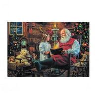 BestPysanky It's Christmas! Santa, Bible, and Child Greeting Card