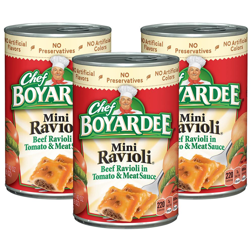 (3 Pack) Chef Boyardee Mini Ravioli, 40 oz