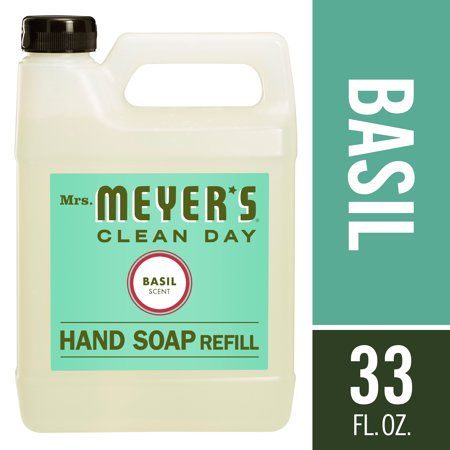 Mrs. Meyer's Liquid Hand Soap Refill, Basil, 33 fl oz