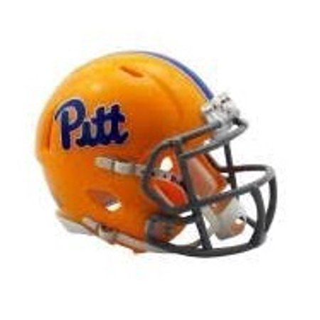 Pittsburgh Panthers Helmet - Riddell Replica Mini - Speed Style - Throwback Gold Script