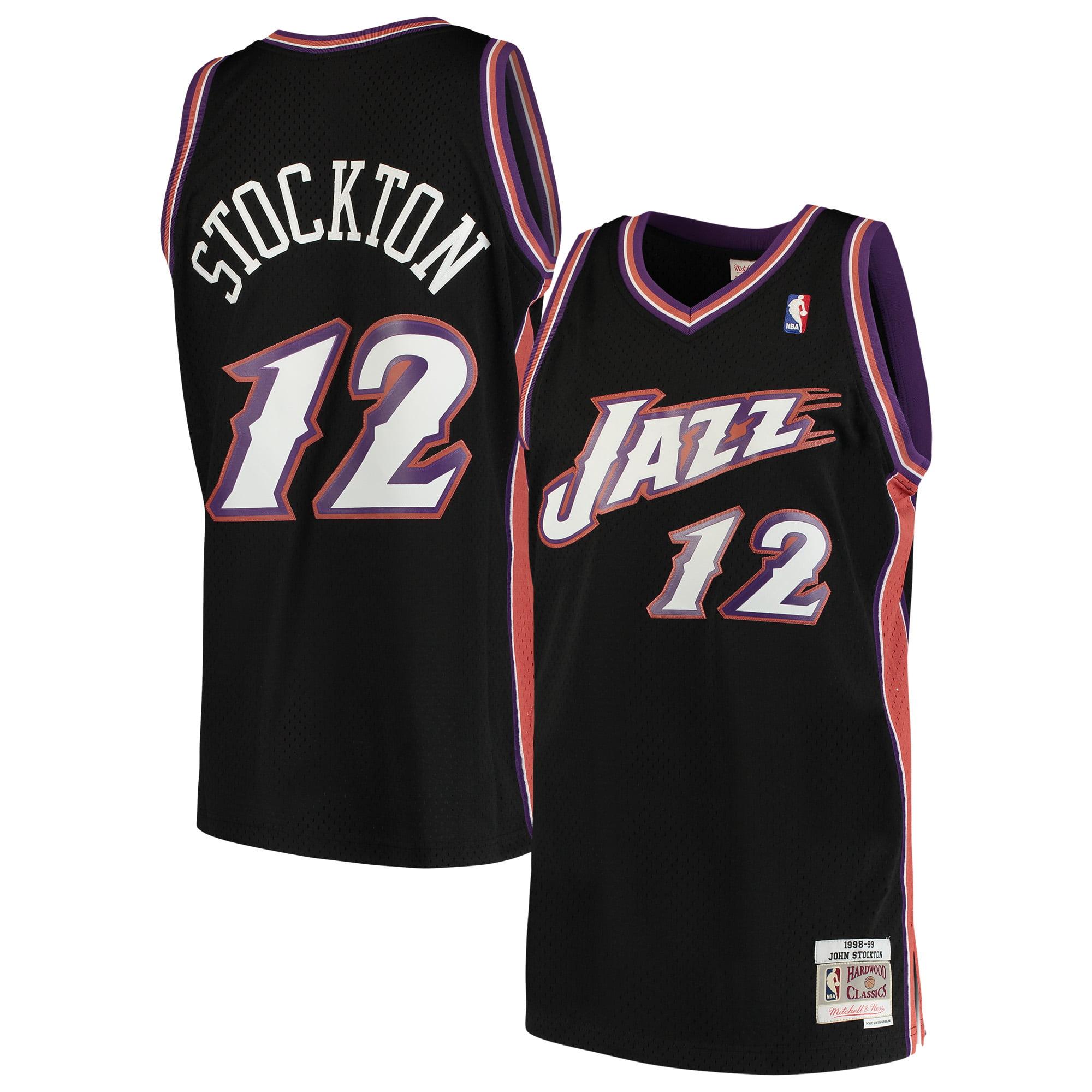 timeless design c120c 17c9a John Stockton Utah Jazz Mitchell & Ness 1998-99 Hardwood Classics Swingman  Jersey - Black