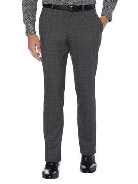 Slim-Fit Non-Iron Plaid Dress Pants