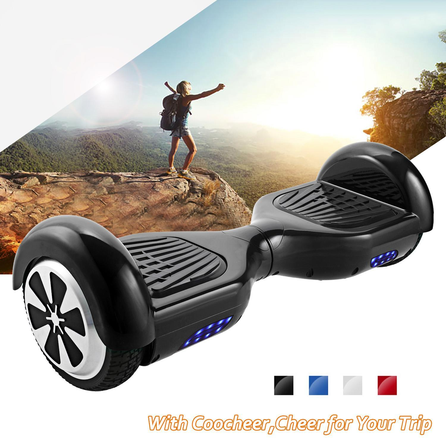 Electric Skateboard Scooter Motorized 2 Wheel Hover Board All-Terrain Tires Personal Hover Transporter HPPY