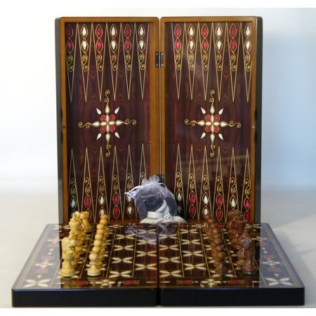Worldwise Pistachio Cluster Backgammon And Chess Combo
