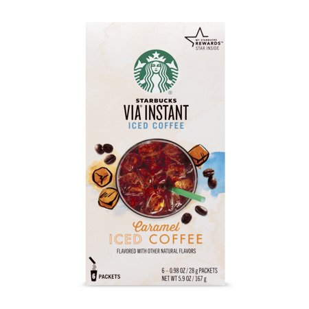 Starbucks VIA Instant Caramel Iced Coffee (1 box of 6