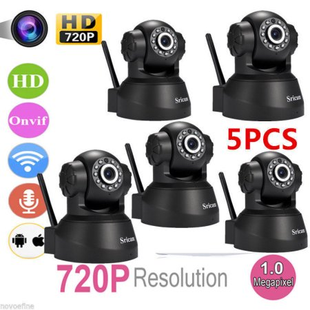 5pcs WiFi Camera Wireless IP CAM for Home Security PNP Dual Audio Camera with Night Vision