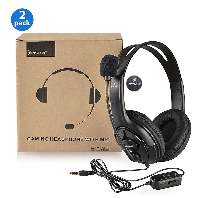 2x Wired Gaming Headset for PS4 Headphone with Mic Microphone Sony PlayStation 4 by Insten