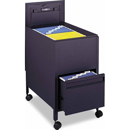 Safco Locking Mobile Tub File With Drawer Letter Size Walmartcom