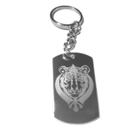 Sikh Sikhism Sardar Khanda Khalsa Tiger Face Faith Relgion Religious Tattoo Symbol Logo - Metal Ring Key Chain](Faith Tatoos)