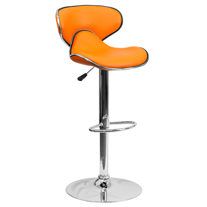 flash furniture cozy midback vinyl adjustable height stools set of 2 multiple colors walmartcom