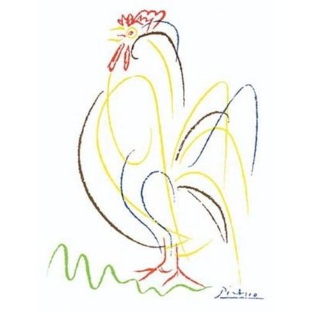 Rooster (numbered limited edition) Poster Print by Pablo Picasso (20 x 26)