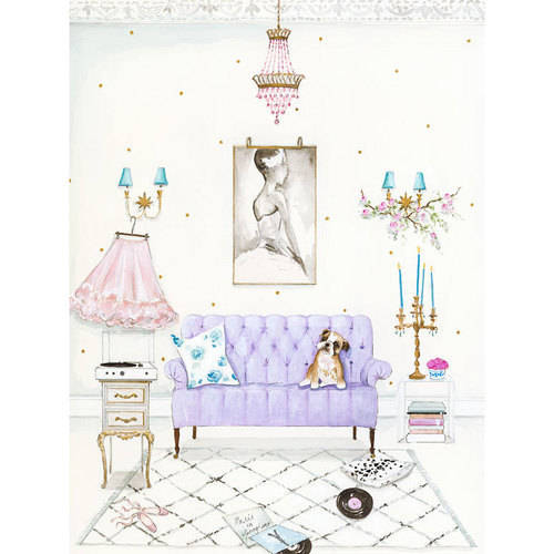 Oopsy Daisy - Canvas Wall Art Posh Puppy - Lucy 14x18 By Kris Langenberg