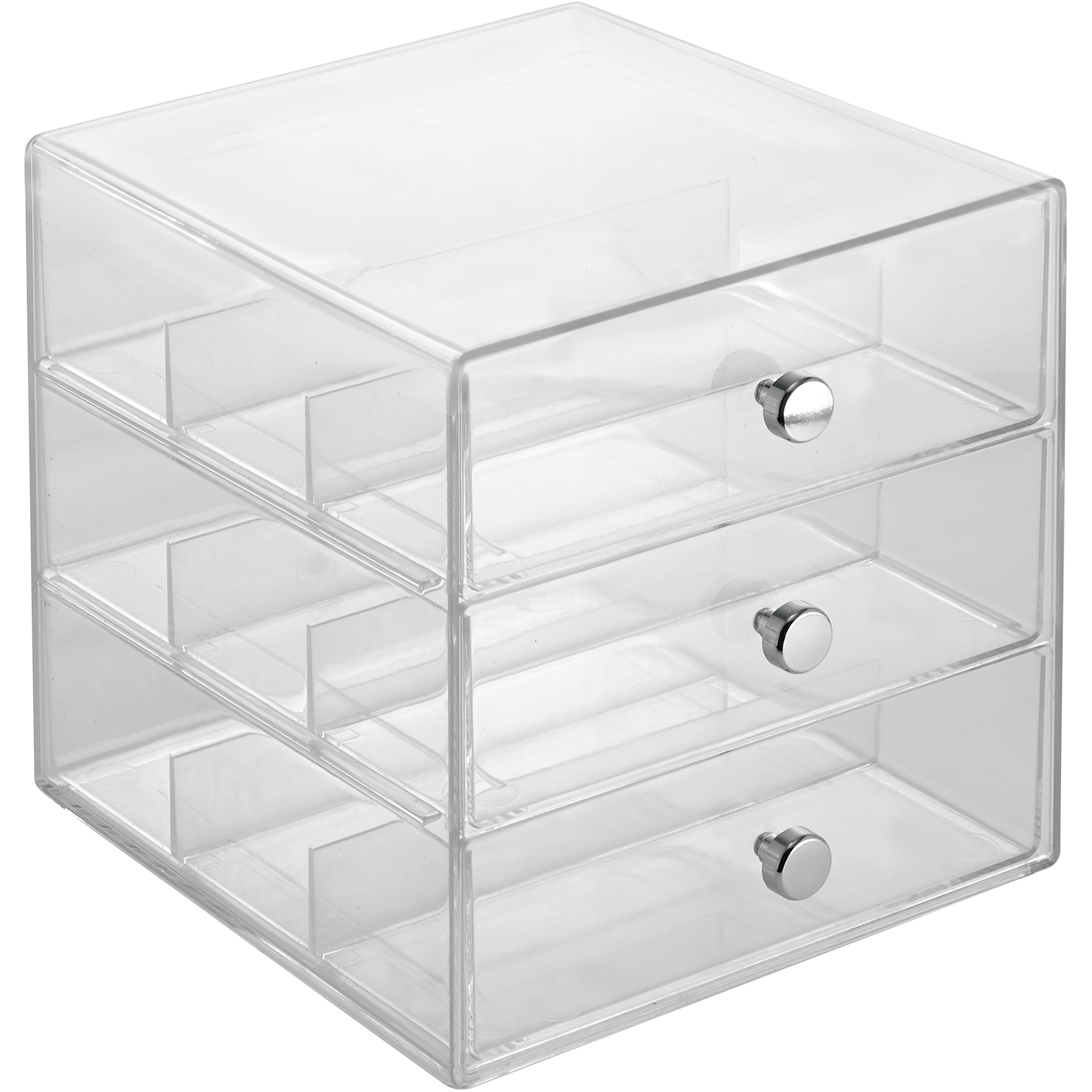 InterDesign Clarity 3 Drawer Eyeglass Case, Various Quantities   Walmart.com