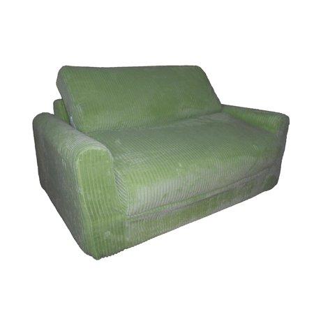 Fun Furnishings 11364 Sofa Sleeper with pillows Brown Chenille