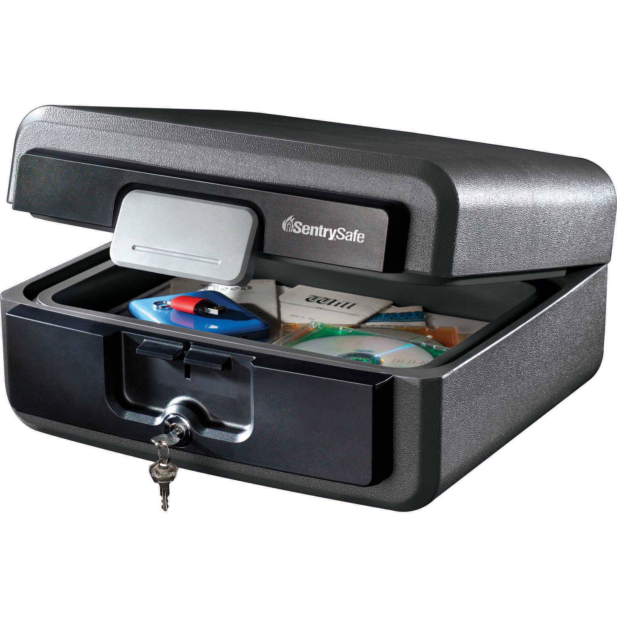 SentrySafe HD2100 Fireproof Box and Waterproof Box with Key Lock 0.37 cu ft
