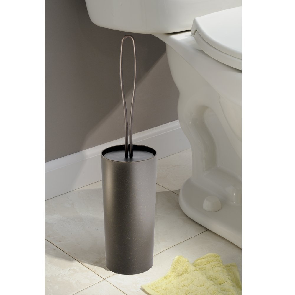 Loop Toilet Bowl Brush and Holder for Bathroom Storage - Bronze