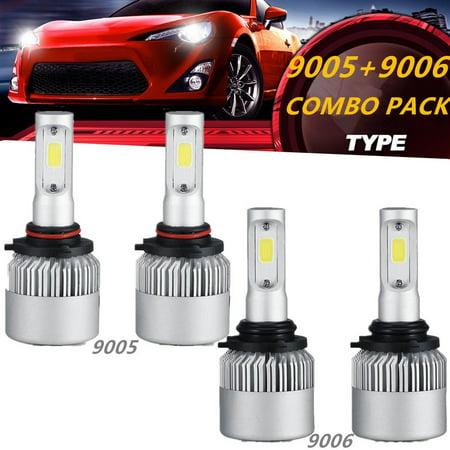 LED Headlights Bulbs 9005+9006 4PCS,BEAMNOVA 2PCS 9005 Headlight Bulb and  2PCS 9006 LED Headlights Hi-Lo Beam Combo Headlight Bulbs Conversion Kit