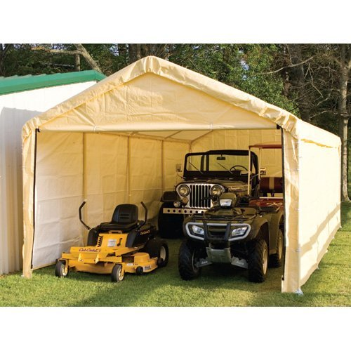 ShelterLogic 12 x 26 Tan Enclosed Canopy Kit